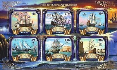 Burundi 2017 Mini Sheet  Mnh Sailing Ship Segelschiff