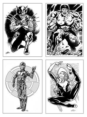 Original A4 Art Commission By Comic Pro Dave Golding Marvel Dc Image Idw