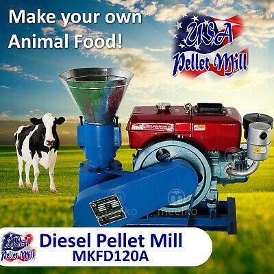 Diesel Pellet Mill For Cow's Food - MKFD120A - Free Shipping