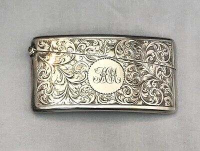 •Sterling Calling/Business Card Holder England 1862 48 Grams•