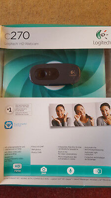 Logitech HD Webcam C270 (960-000636) Farbe Audio Hi-Speed USB Web-Kamera