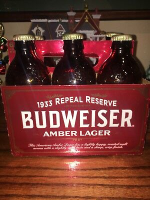 Budweiser 1933 Repeal Reserve Amber Lager Limited Edition 6Pack empty bottles