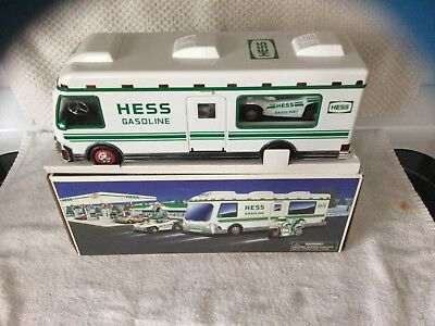 1998 HESS Toy Truck - HESS RV with Motorcycle & Dunebuggy