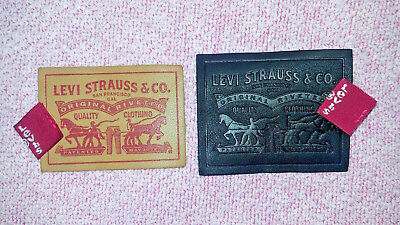 2pcs Levi's Levis Levi Strauss Original Real Leather Patch Label + FREE Red Tab