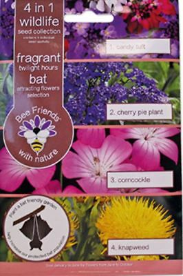 Bee Friends Multi-packs - 4 in1 Bat - Fragrant Twilight Hours Mix - 225 Seeds
