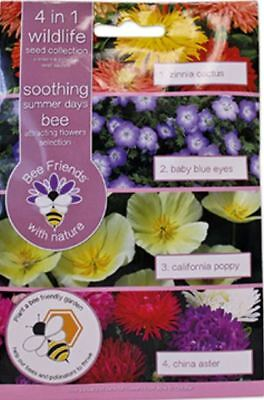 Bee Friends Multi-packs - 4 in1 Bee - Soothing Summer Days Mix - 550 Seeds
