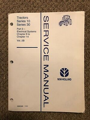 Ford new holland 1156 tractor service shop repair manual book vol 1 ford new holland 1030 series tractor service manual part 3 electrical fandeluxe Gallery