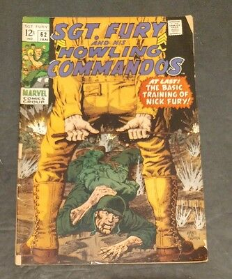 Sgt. Fury and His Howling Commandos #62 (Jan 1969, Marvel)
