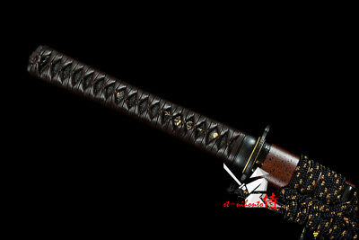 Clay Tempered L6 Steel Blade Japanese Katana Sword Tensho Style Tsukamaki Handle