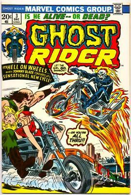 Ghost Rider 3 Vf+ 8.5 High Grade 1St Fire Motorcycle Son Of Satan Marvel Bronze