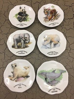 "2"" Bone China  Butter Pats - Animals (set of 6)"