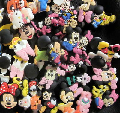 DISNEY BABIES MICKEY MINNIE MOUSE Jibbitz shoe charms/cake toppers! Lot Set 25
