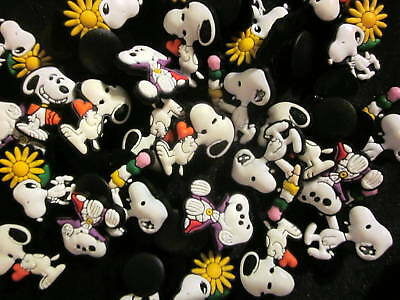 SNOOPY PEANUTS Jibbitz shoe charms/cake toppers! Lot Set 20! FREE USA SHIPPING!