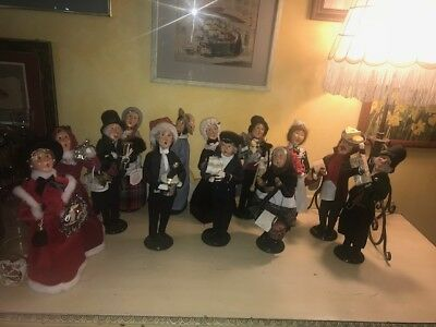 "Lot of 13 Byer's Choice 13"" Carolers 1999- 2014"