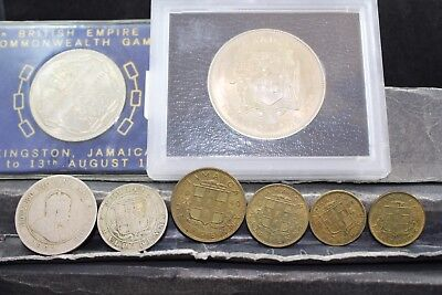 Jamaica 8 assorted coins   lot H 355