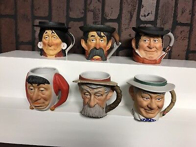 Norman Rockwell Toby mugs by Dave Grossman complete set of 6