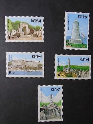 Kenya / Commonwealth QEII 1989 Complete set to 7 shillings SG491-95 MNH