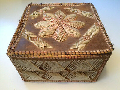 Native American? Canadian Aboriginal? Antique Birch Bark and Quill Box