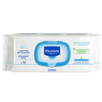 Mustela Cleansing Wipes Fragranced 70 Pack Online Only