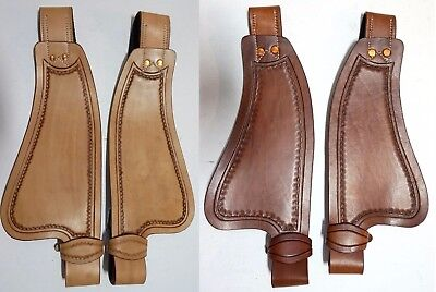 """8"""" 10"""" 12"""" Children's Youth Western Saddle Leather Replacement Fenders"""