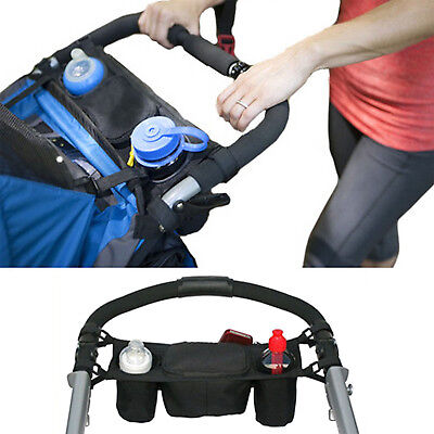 Baby Pram Stroller Buggy Storage Pushchair Bag Organizer Bottle Pouch Holder GOD