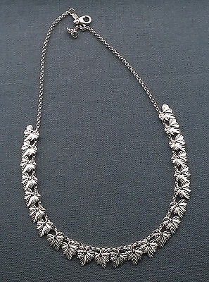 """Solid 925 Sterling Silver Dainty Delicate Maple Leaf Necklace 17.5"""""""