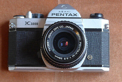 Pentax K1000 28 mm lens Kit 35mm SLR Film Camera