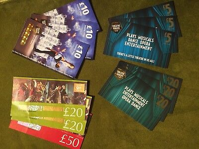 £195 Theatre Tokens Spendable In The West End