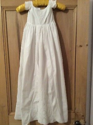 Antique Victorian Ayrshire Christening Gown