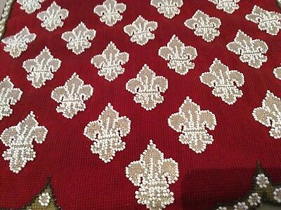 Antique Beadwork and Woolwork Banner