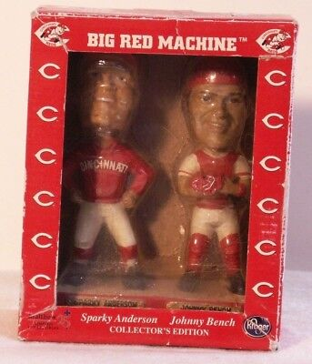 Cincinnati Reds Big Red Machine Sparky Anderson & Johnny Bench Bobble Heads