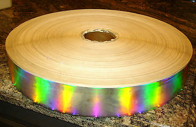 "HOLOGRAPHIC RAINBOW STICKER STRIP 15ftX2.5"" peel off back label sticker border"