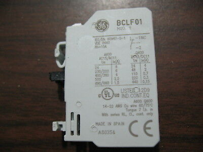 New Surplus GE BCLF01 Normally Closed Auxiliary Contact