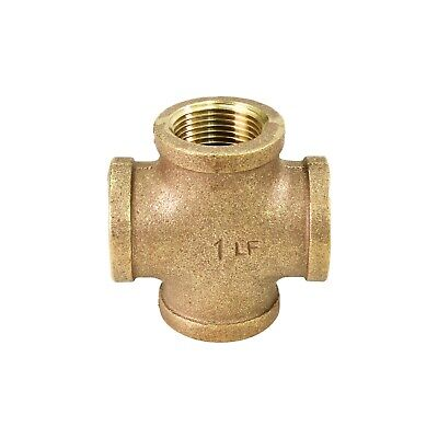 Everflow 3/4 Inch Lead Free Four Way Brass Cross Fitting Easy to Install