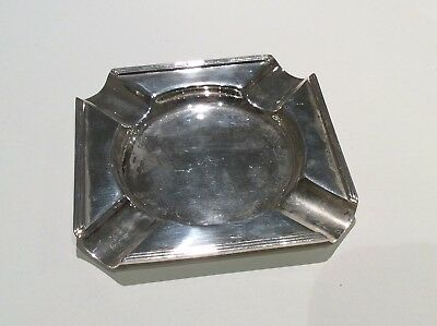 Solid Silver Ashtray J.D & S Maker 72.1g Ship Worldwide