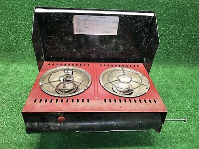 Vintage 1940s Ted Williams By Sears Two 2 Burner Camp Stove Camping Rare
