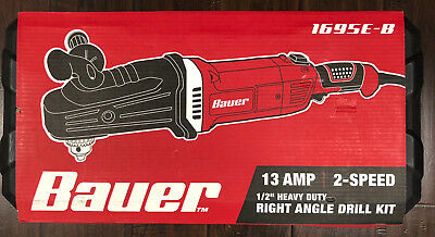 Bauer - 13 Amp 2-SPEED 1/2 in. HEAVY DUTY RIGHT ANGLE DRILL KIT