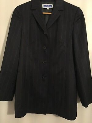 Austin Reed Ladies 2 Piece Suit Size 8 / 10 - Navy Pinstripe Lined
