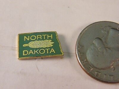 North Dakota State Map Travel Pin