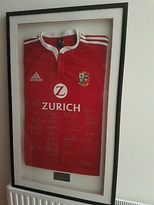 BRITISH & IRISH LIONS 2005 SIGNED & FRAMED SHIRT, Certificate of Authenticity