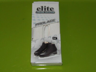 "New Elite Figure Skating  Pro Laces, White, Size 74"" / 188 Cm (Rm-6)"