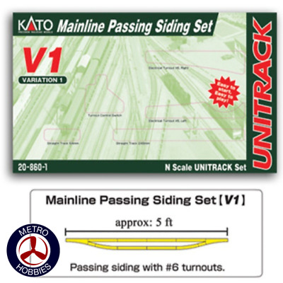 Kato N Unitrack Master Passing Siding Set V1 KA20-860-1 Brand New