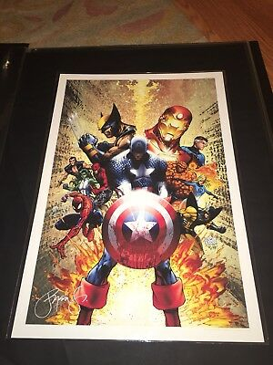 "Marvel CIVIL WAR #1 by Michael Turner ART PRINT 13"" x 19"" Aspen"