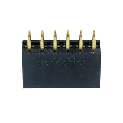 10PCS 2.54mm Pitch 12 Pin 2x6 Pin Double Row Female Straight Header Socket Strip