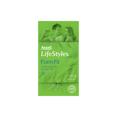 NEW Ansell Lifestyles Condoms Form Fit 12 Pack Sexual Wellness Condoms