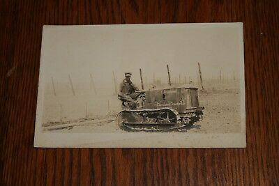 The Cleveland Tractor Company Real Photo Postcard Oliver Tractor Cletrac