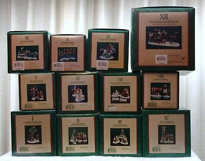 """Department 56 Dickens Village """"12 Days Of Christmas"""" Complete Set Of 12 ***new**"""
