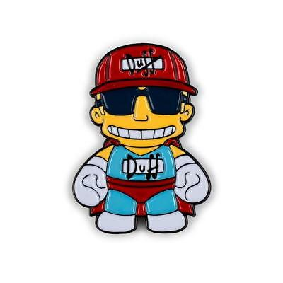 Kidrobot THE SIMPSONS Enamel Pin Series DUFFMAN Opened Blind Box