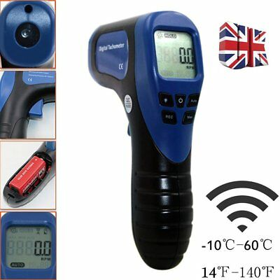 Non Contact Digital Laser Photo Tachometer RPM Tach Tester Meter Speed Gauge NP