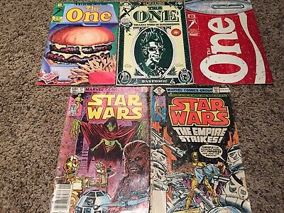 Mixed Lot of Marvel Comics Lot of 5, The One Comic, Star Wars Comic